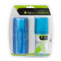 Cleaning Kit for Monitor 200ml with Microfiber Cloth and Brush - Techly - IAS-LCD200TY
