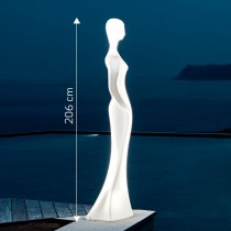 Multicolor LED Floor Lamp LADY with Intensity Adjustment - Techly - I-LED LADY