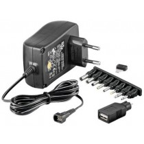 Adjustable Power Supply 1500 mAh AC / DC Stabilized - Techly - IPW-NTS1500G
