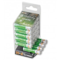 Multipack 24 Batteries High Power Mini Stilo AAA Alkaline LR03 1.5V - Techly - IBT-KAL-LR03-B24T