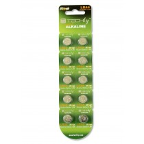 Button Battery AG13 LR44 A76 Alkaline GP76A 357 (set 10 pcs) - Techly - IBT-KLR44