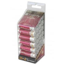 Multipack 24 Power Plus Batteries Stylus AA Alkaline LR06 1.5V - Techly - IBT-KAP-LR06-B24T