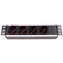 "4 Sockets Rack PDU 10""-I-CASE M10-4-Techly Professional"