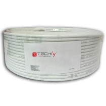 Cable U/UTP, 4 pairs, Copper Cat.6 100m roll Solid Grey - Techly Professional - ITP6-UTP-IC-100H