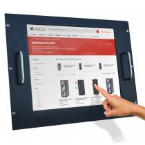 """LCD Monitor 17"""" Touch Screen for Rack 19"""" 8 Units Black - Techly Professional - I-CASE MONI-TOU"""