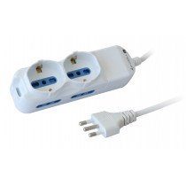 Power Strip 4 Italian / 2 Schuko - Techly - IUPS-PCP-4I2S