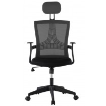 Office Chair with High Back Black - Techly - ICA-CT MC057BK