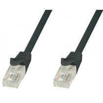 Network Patch Cable in CCA Cat.5E UTP 20m Black - Techly Professional - ICOC CCA5U-200-BKT