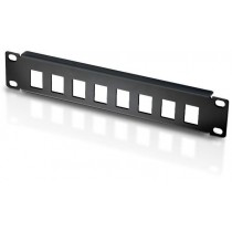 "Patch panel 10"" 1U 8 places to Keystone Jacks Black - Techly Professional - I-CASE M10-KSBL"