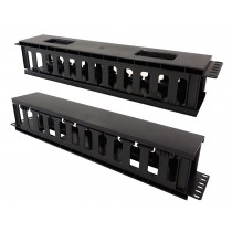 """Cable Entry Panel 19"""" 2U with Cover - Techly Professional - I-CASE CABLE-FR2"""
