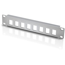 "Patch panel 10"" 1U 8 places to Keystone Jacks Grey - Techly Professional - I-CASE M10-KSP"