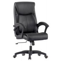 Upholstered Executive Armchair with Armrests Black - Techly - ICA-CT 091BK