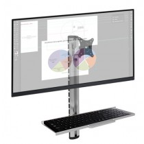 Wall-mounted workstation with monitor support and keyboard shelf - Techly Np - ICA-PLW 01