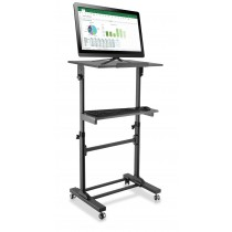 Workstation Notebook Stand with Adjustable Height Shelf - Techly - ICA-TB TPM-4