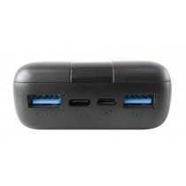 Power Bank Charger 20000 mAh 20W 3-Port Output and Micro USB Cable - Techly - I-CHARGE-2000020W