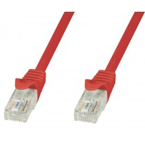 Network Patch Cable in CCA Cat.5E UTP 10m Red - Techly Professional - ICOC CCA5U-100-RET