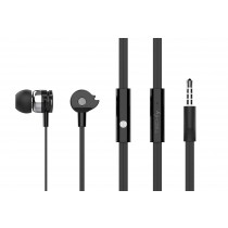 Stereo Earphones In-Ear with Microphone Black - Techly - SB-HP A1BKTY