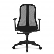 Office Chair with Ergonomic Back Black - Techly - ICA-CT MC086BK