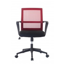 Office Chair with Middle Back Black / Bordeaux - Techly - ICA-CT MC064