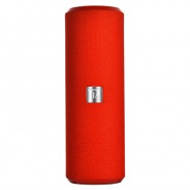 Portable Bluetooth Tube Speaker with FM Radio MicroSD Reader USB 10W Red - Techly - ICASBL21RED
