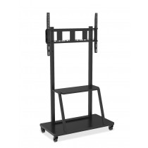"Multifunction Mobile TV Cart for LED/LCD TV 55-100"" with shelf - Techly - ICA-TR30"