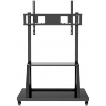 """Multifunction Mobile TV Cart for LED/LCD TV 55-100"""" with shelf - Techly - ICA-TR30"""