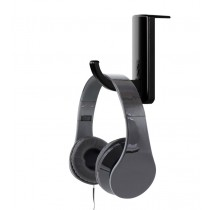 Universal Adhesive Headphone Holder for Monitor and Desk Black (2 Pcs) - Techly - ICC SH-HANGTY