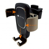 In-Car Smartphone holder with gravity system - Techly - I-SMART-UNI-GRAV