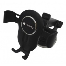 In-car smartphone holder with suction cup and gravity system - Techly - I-SMART-VENT-GRAV