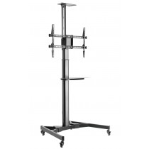 """Floor Support with TV/LED/LCD Shelf 37-70"""" Black - Techly - ICA-TR46"""