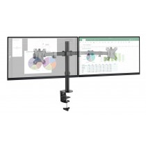 "Desk Stand for 2 Monitors with Clamp 13-32"" - Techly - ICA-LCD 582-D"