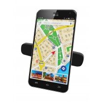 Dual-clip Car Air Vent Magnetic Mount for Smartphone - Techly - I-SMART-UNIDUA