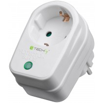 Schuko Socket With Overvoltage Protection - Techly - IPW-ADP-SURGET
