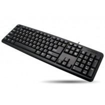 USB Keyboard 104 keys American Layout Black - Techly - IDATA 955-UBK-AM