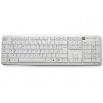 Standard USB Keyboard 105 keys, White - Techly - IDATA 955-UWH