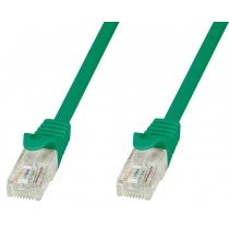 Network Patch Cable Cat.5E in CCA UTP 0,5m Green - Techly Professional - ICOC CCA5U-005-GREET