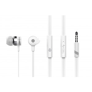 Stereo earphones with microphone White