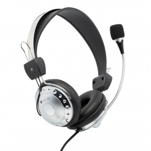 Stereo Headphone with Microphone and Volume Control