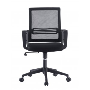 Office Chair with Padded Seat and Mesh Backrest