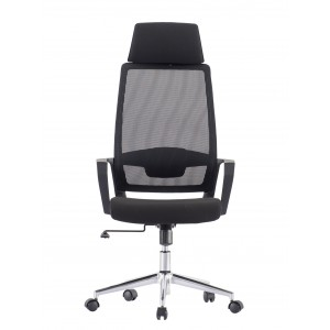 Office Chair with High Back and Black Chromed Base