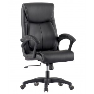 Upholstered Executive Armchair with Armrests Black