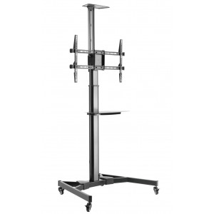 """Floor Support with TV/LED/LCD Shelf 37-70"""" Black"""