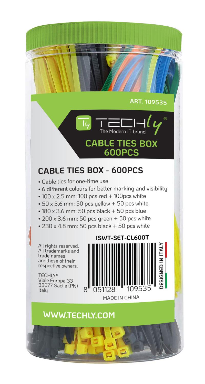 Fascette Fermacavo Colorate Kit da 600pz