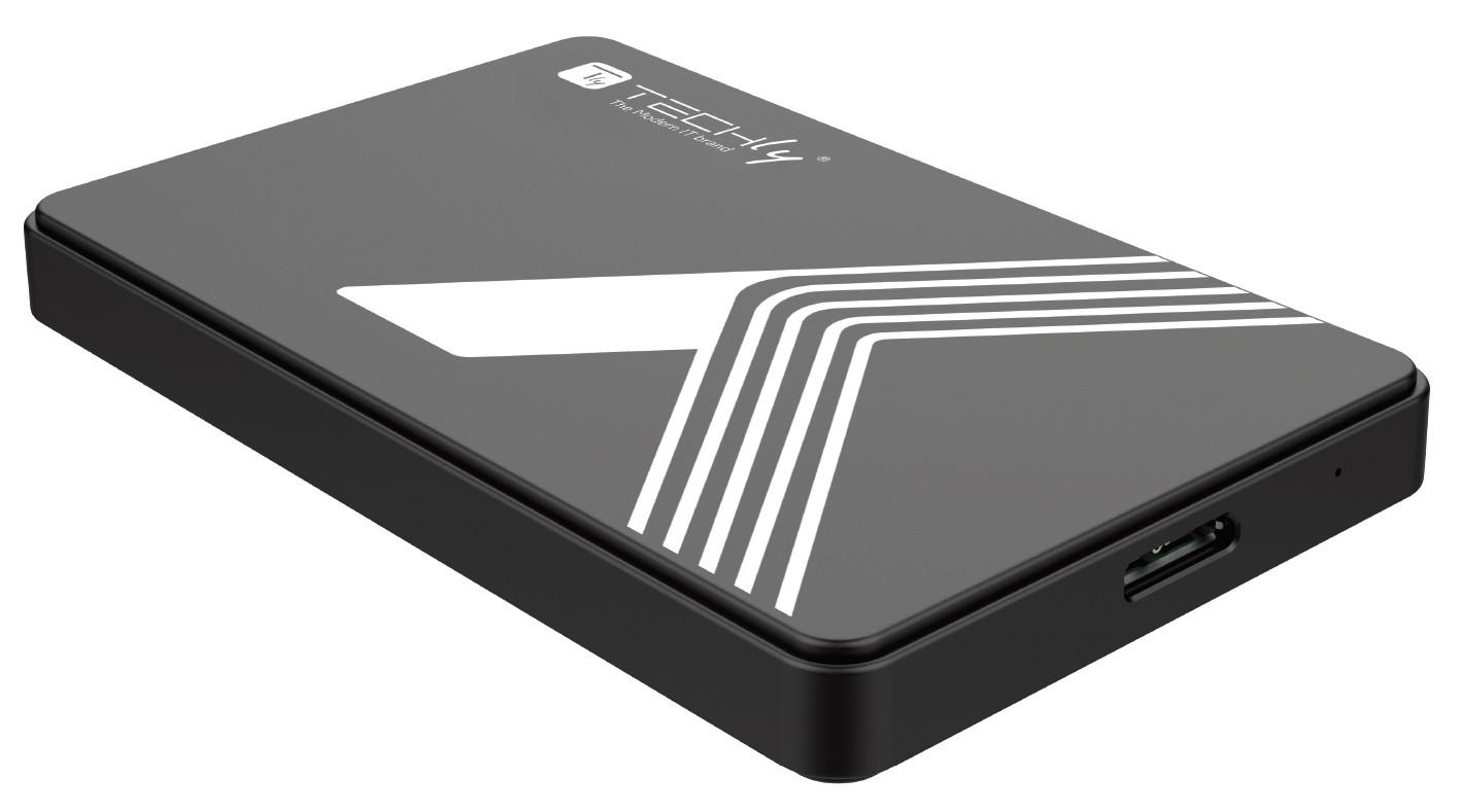 TECHly HDD//SSD enclosure USB 3.0 aluminium black SATA 2.5