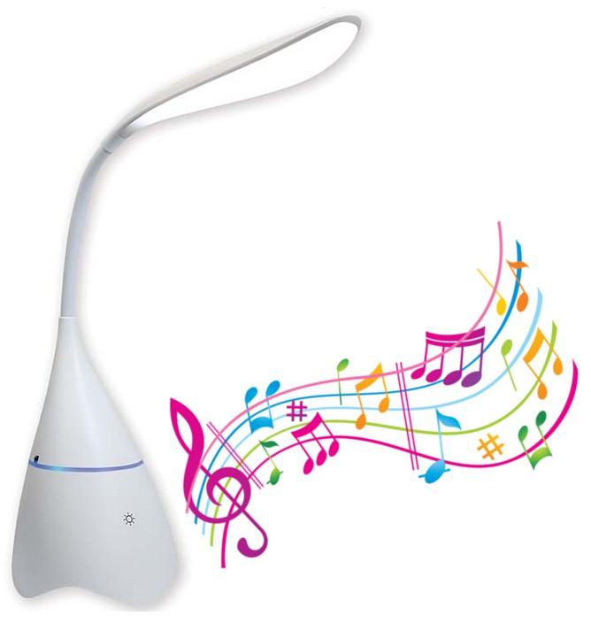 Lampada a LED da Tavolo Bluetooth con Speaker I...
