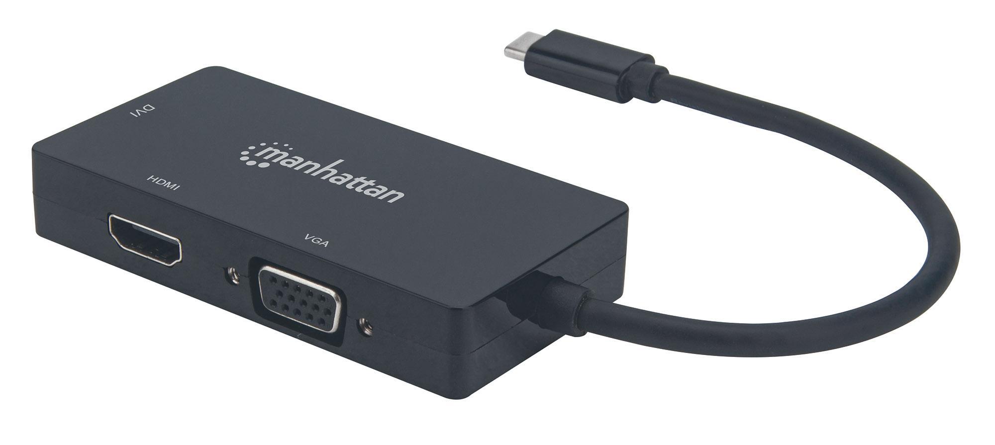 Convertitore Audio Video USB-C™ 3-in-1 Mu...