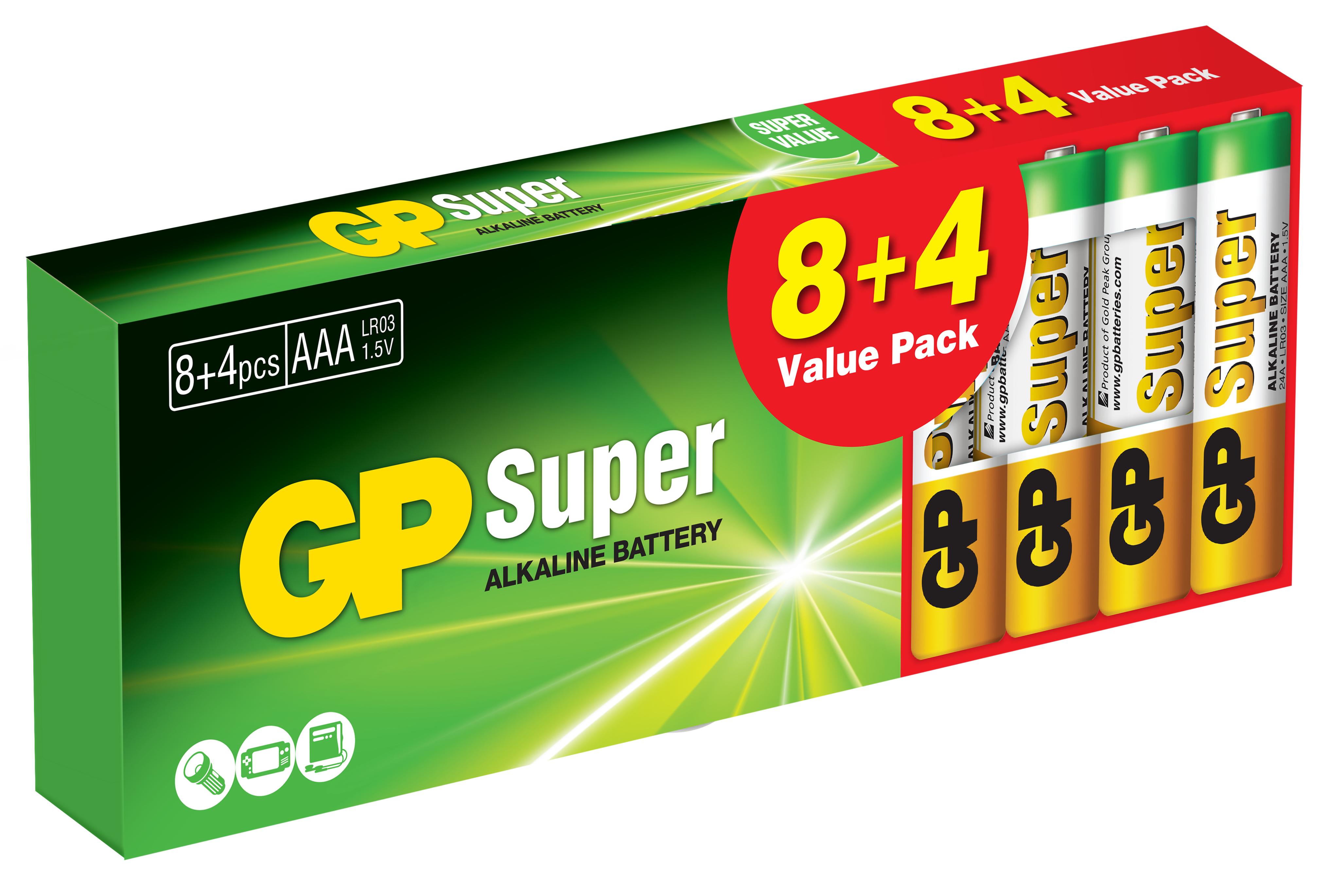 Confezione 12 Batterie GP Super Alcaline Minist...