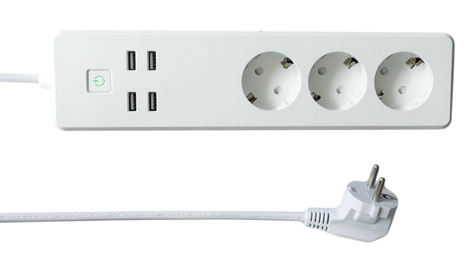 Multipresa Intelligente 3 Prese Schuko 4 USB Co...