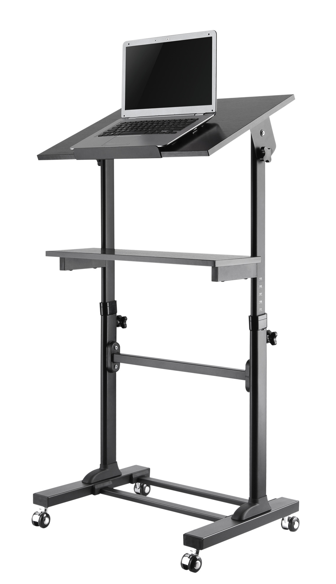 - Mobile Presentation Desk Cart With Height Adjustable And Tilting