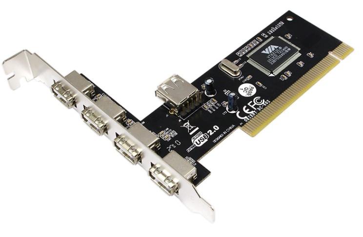 Scheda PCI 4+1 porte USB 2.0